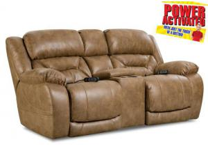 Badlands Power Reclining Loveseat by Homestretch - Saddle