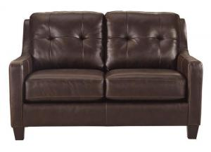 Signature Design by Ashley O'Kean Loveseat - Mahogany