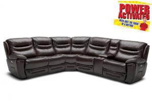 Dallas POWER Reclining Sectional Sofa - Brown