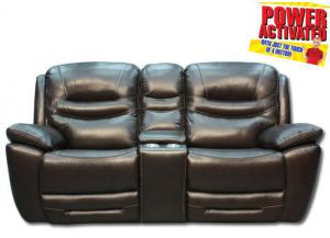 Dallas POWER Reclining Loveseat - Brown