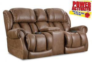 Atlantis POWER Reclining Loveseat by Homestretch - Brown
