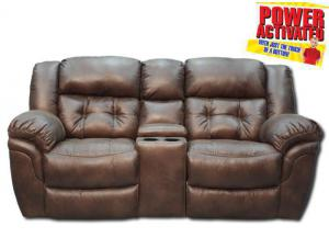 Oxford POWER Reclining Loveseat by Homestretch - Espresso