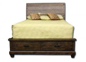 Hunter King Bed - Brown