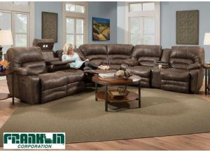 Legacy Reclining Sectional Sofa by Franklin - Brown