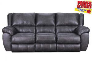 Shiloh POWER reclining sofa - gray