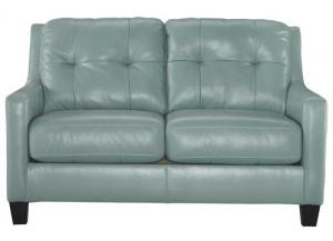 Signature Design by Ashley O'Kean Loveseat - Sky Blue
