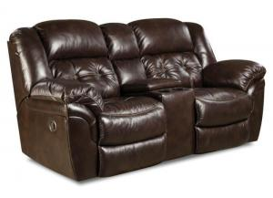 Abilene Reclining Loveseat by Homestretch - Espresso