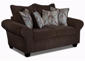 Trinidad Tobago loveseat - chocolate