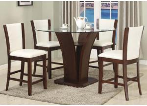 San Sorento 5 Pc Pub Dining Room- White