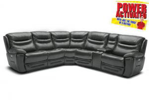 Dallas POWER Reclining Sectional - Gray