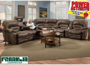 Legacy POWER Reclining Sectional Sofa by Franklin - Brown