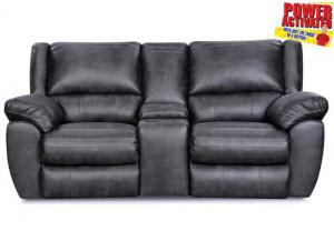 Shiloh POWER reclining loveseat - gray