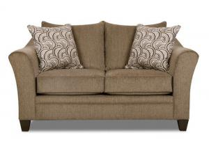 Hudson Loveseat by Simmons Upholstery | Tan