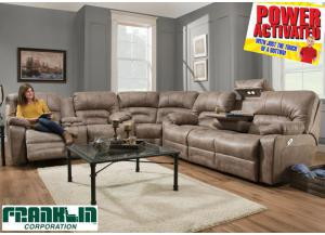 Legacy POWER Reclining Sectional - Cream