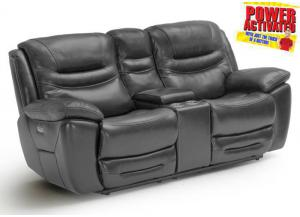 Dallas POWER Reclining Loveseat - Gray
