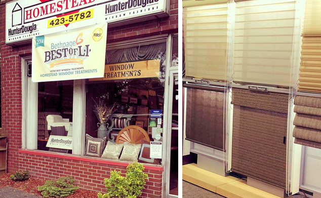 Homestead Window Treatments Storefront in NY