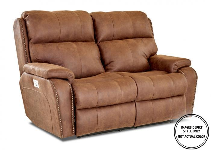 Leo Power Motion Loveseat,Image Depicts Style