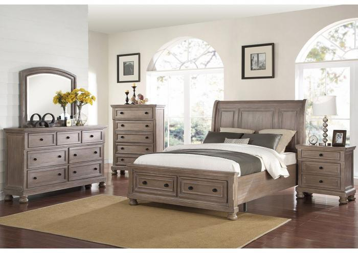 Nautica 4PC QN Bedroom Pkg,Huffman Koos