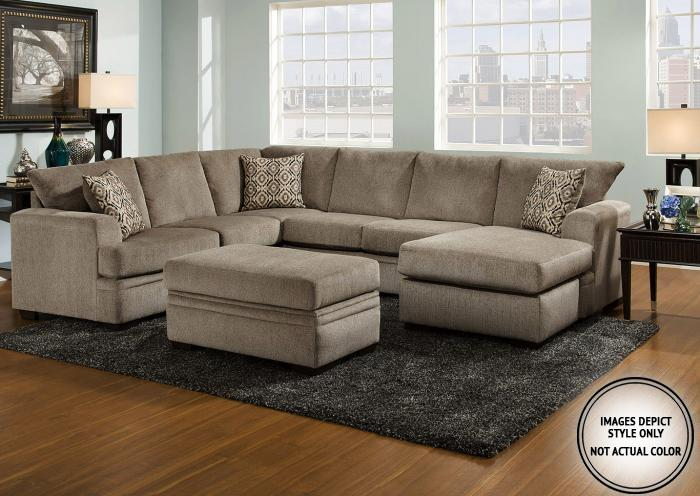 Lacey Grey 2 Pc Sectional Pewter Laf Sofa Chaise,Image Depicts Style