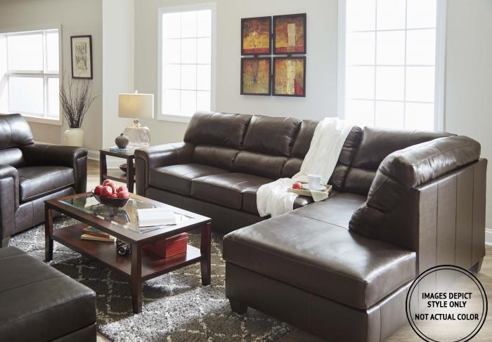 Stefano Brown 2Pc Sectional Laf Sofa,Image Depicts Style