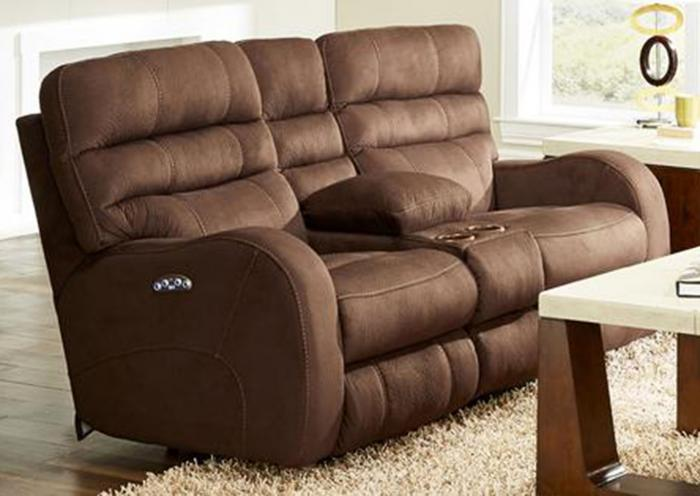 Kasey Power Reclining Console Loveseat With Power Headrest,Huffman Koos