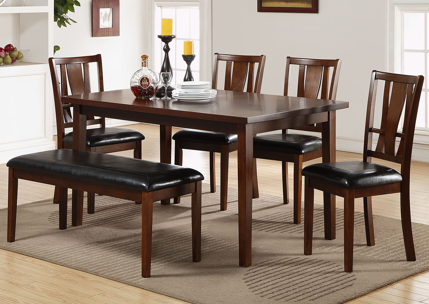 Logan 6PC Dining Rm Sold As Set Onl,Huffman Koos