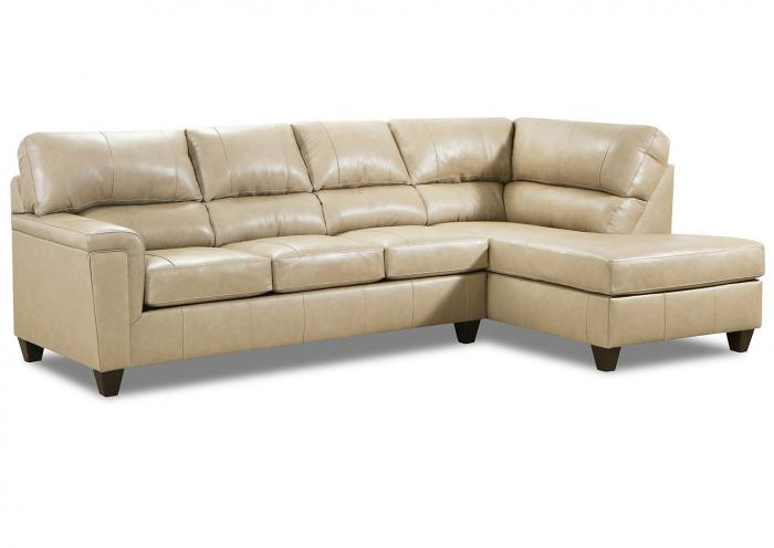 Stefano Ivory 2Pc Sectional Laf Sofa,Huffman Koos