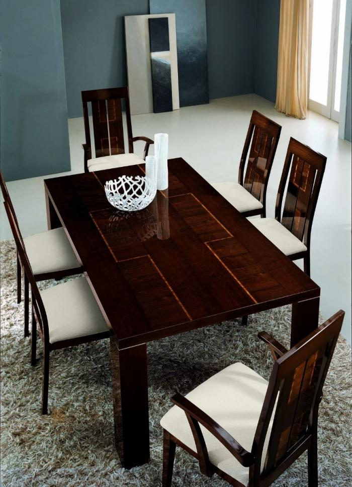 VENICE DINING TABLE,Huffman Koos