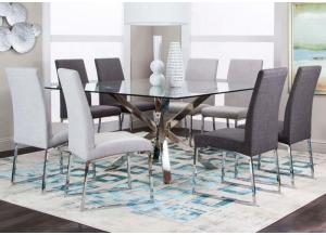 Patricia 5PC Dinette Pkg Dark Grey