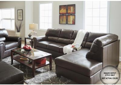 Stefano Brown 2Pc Sectional Laf Sofa