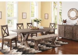 Braxton II Dining Bench W/Cushion