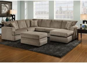 Lacey 2 Pc Sectional Pewter Raf Sofa Chaise