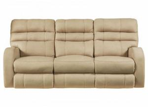 Kasey Power Reclining Sofa with Power Headrest