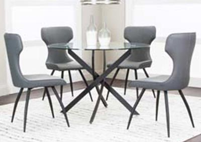 Alina 5PC Dining Pkg Charcoal