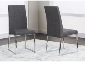 Patricia Side Chair Dark Gray