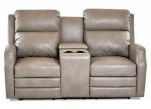 Audrina Power Motion Console Loveseat