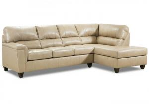 Stefano Ivory 2Pc Sectional Laf Sofa