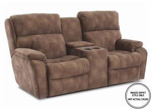Leo Power Motion Console Loveseat