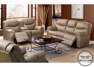 Elm Power Motion Loveseat W/Console
