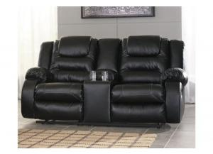 Image for Capri Recliner Loveseat Black