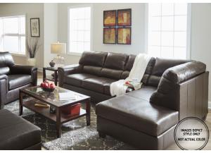 Stefano Brown 2Pc Sectional Raf Sofa