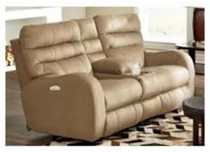 Kasey Power Reclining Console Loveseat With Power Headrest