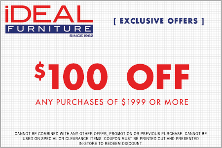 $100 Off Any Purchase of $1999 or More
