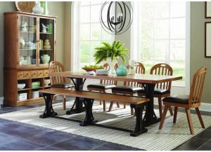 Bishop Farmhouse 7 Piece Dining Set