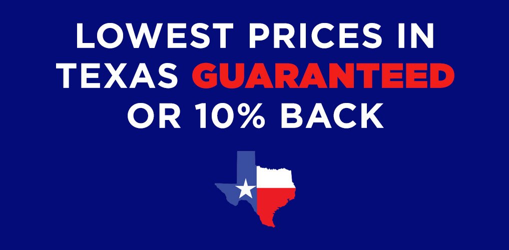 Lowest prices in Texas