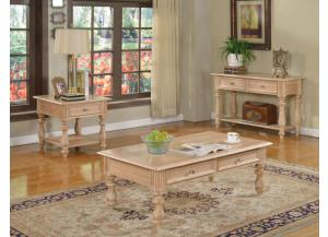 Shantoria 3pc Elegant Wood Table Set 1 Coffee Table, 1 End Table & 1 Sofa Table