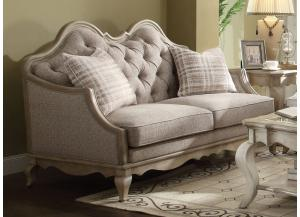 Chelmsford Antique Taupe Fabric Loveseat