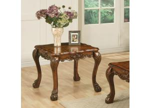 Dresden Brown Cherry Oak Finish End Table