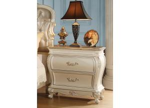 Chantelle Pearl White Nightstand