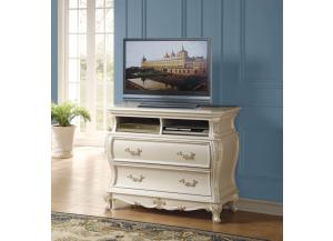 Chantelle Pearl White TV Console